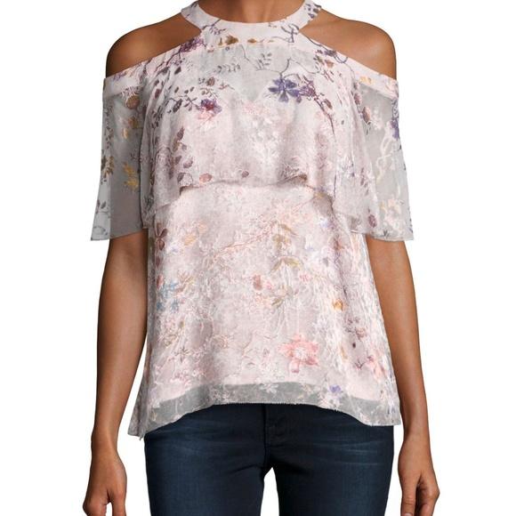6f4835ec464e Elie Tahari Tops | Genevieve Embellished Silk Blouse S | Poshmark